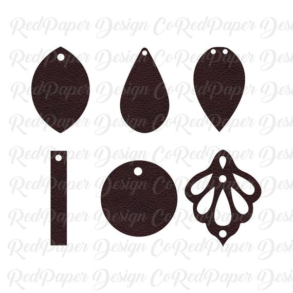 leather earrings svg #201, Download drawings