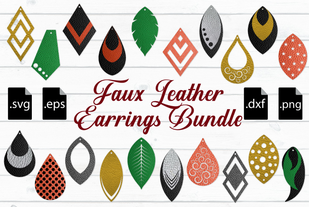 leather earrings svg #198, Download drawings