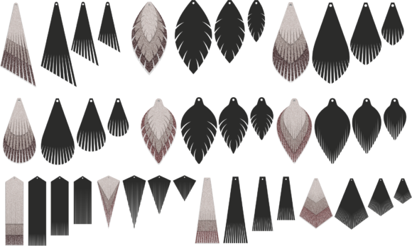 leather earrings svg #192, Download drawings