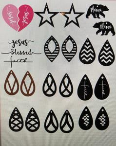 leather earrings svg #197, Download drawings
