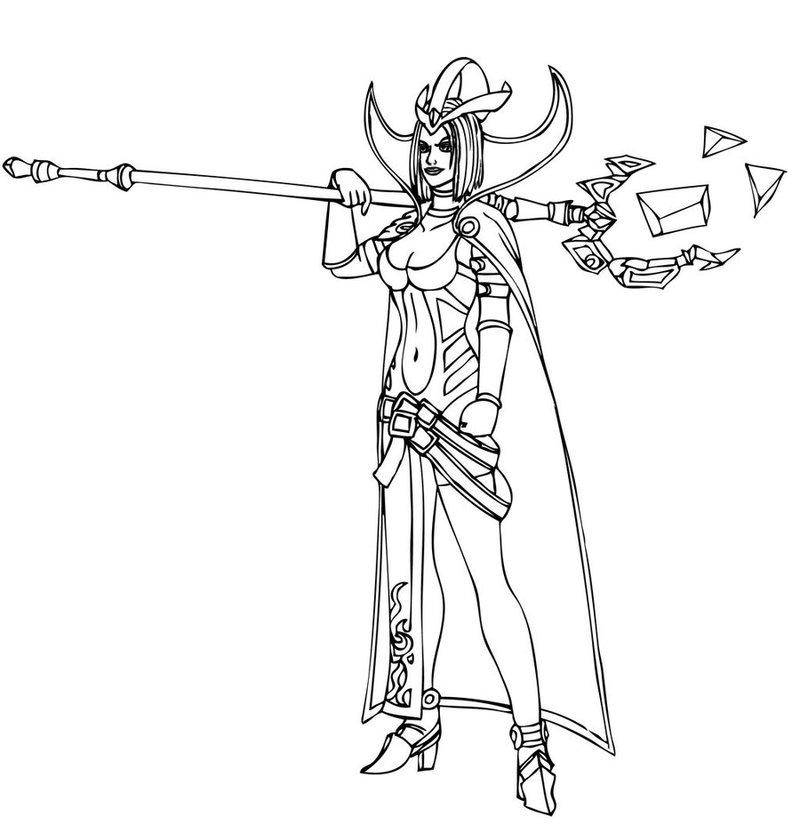 LeBlanc (League Of Legends) coloring #3, Download drawings