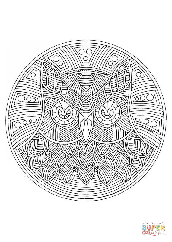 Lechuza coloring #2, Download drawings