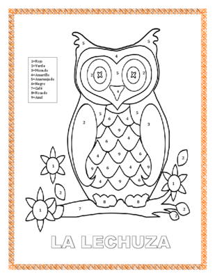Lechuza coloring #14, Download drawings