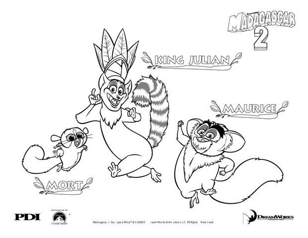 Lemur coloring #8, Download drawings
