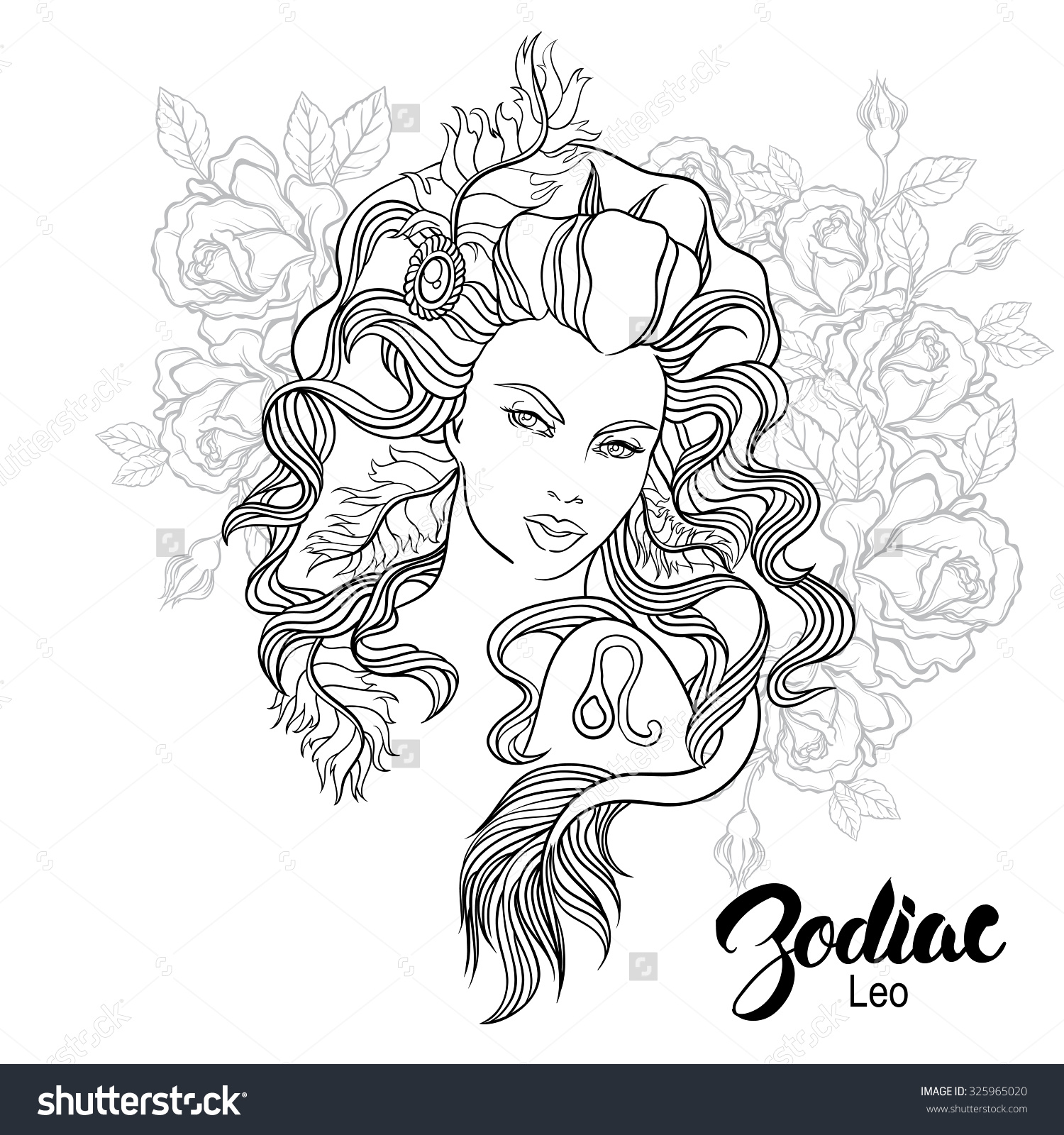 Leo astrology coloring download leo astrology coloring for Leo coloring pages