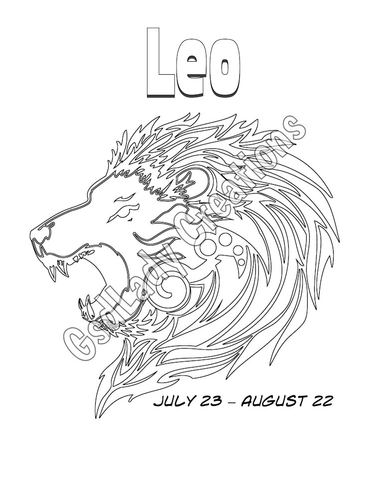 Leo (Astrology) coloring #3, Download drawings