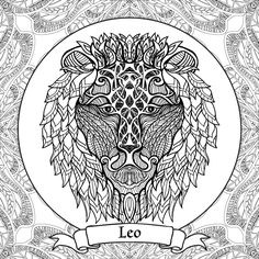 Leo (Astrology) coloring #1, Download drawings