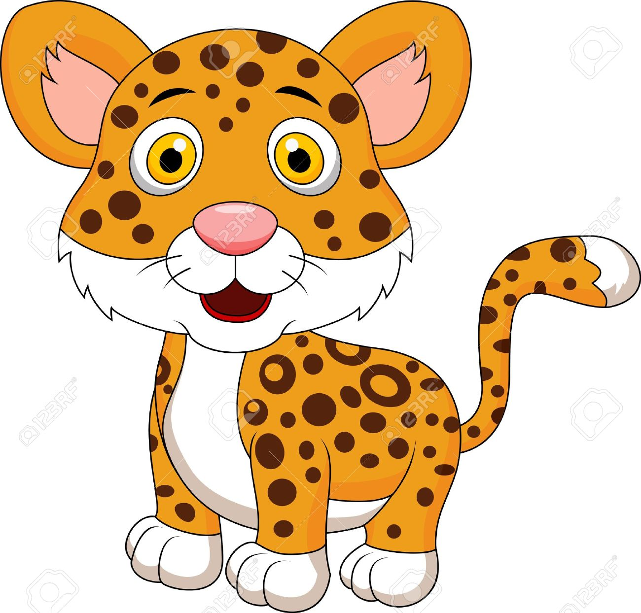 Leopard clipart #3, Download drawings