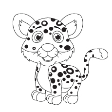 Leopard coloring #5, Download drawings