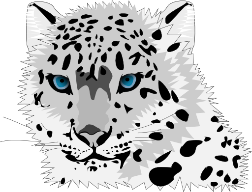 Snow Leopard svg #12, Download drawings