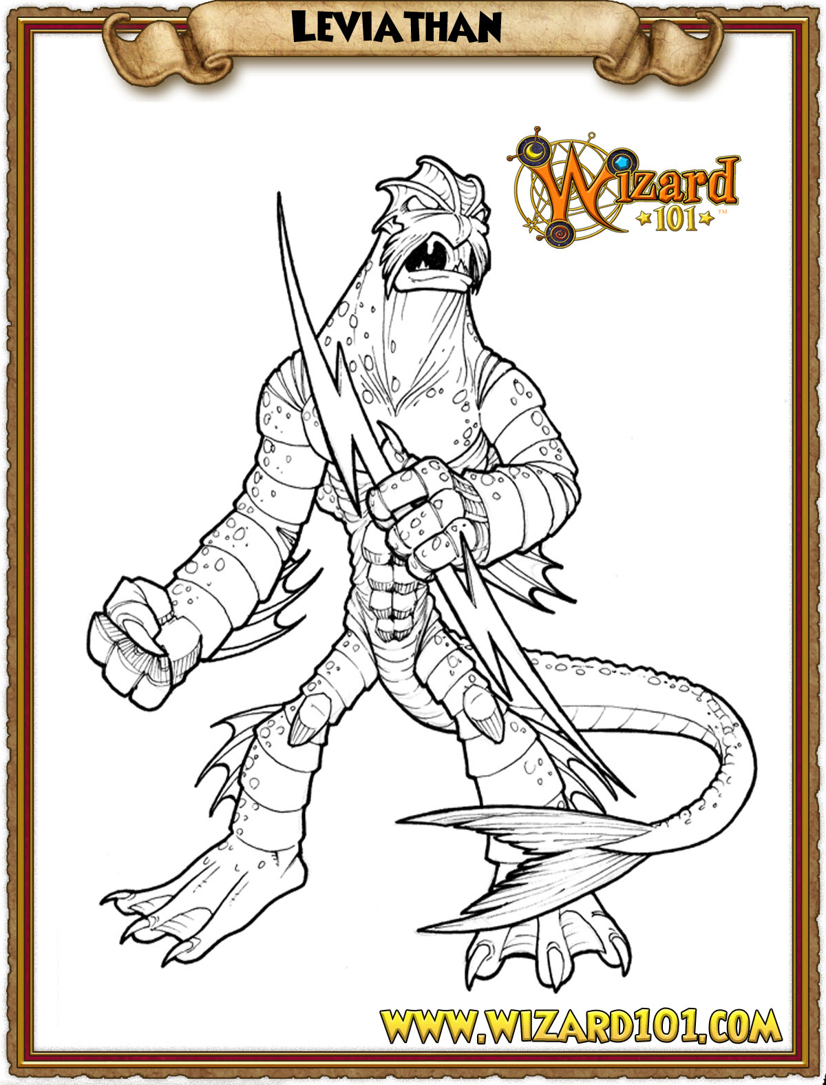 Leviathan coloring #8, Download drawings