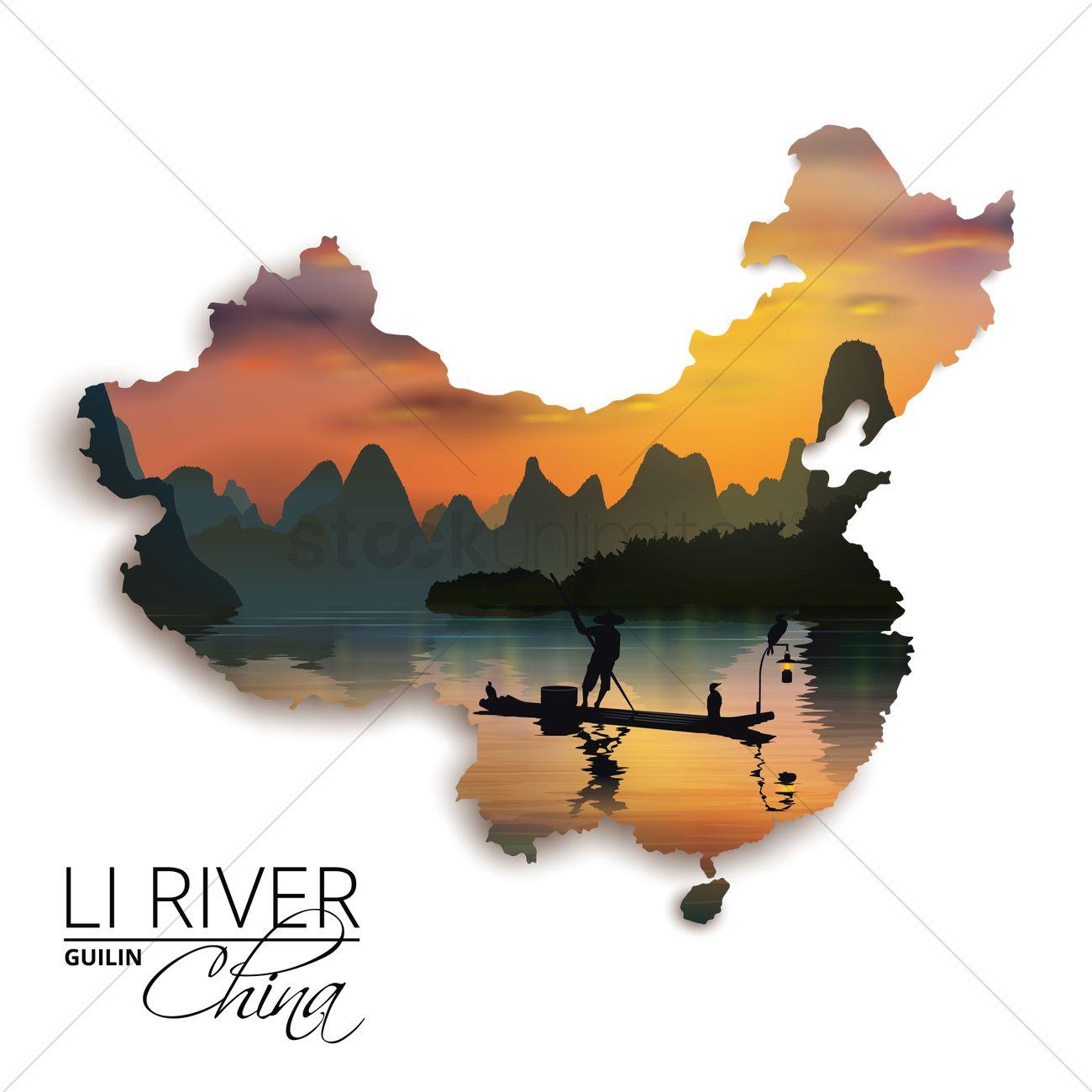 Li River clipart #9, Download drawings