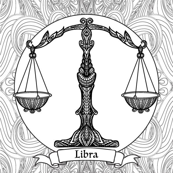 Libra coloring #13, Download drawings