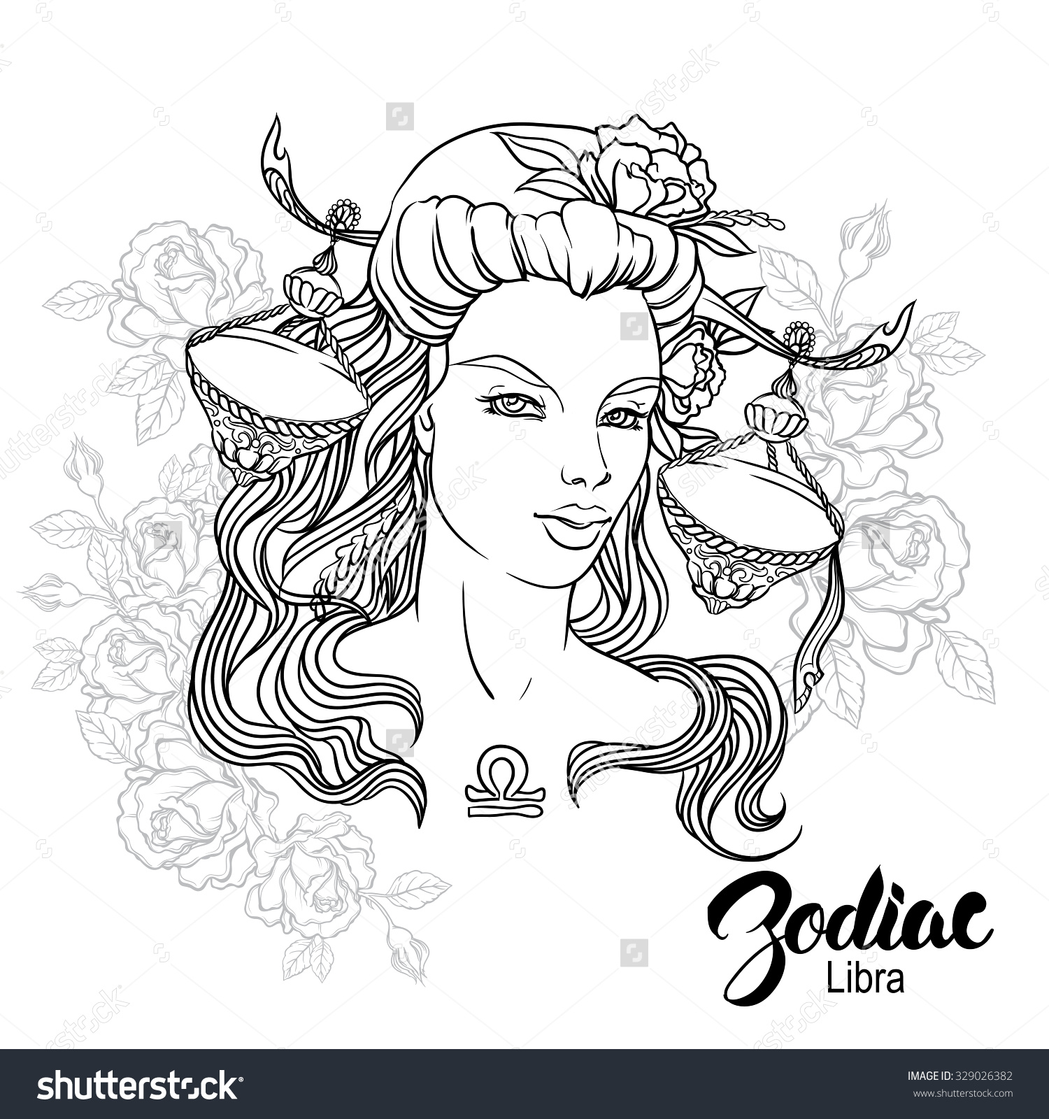 Libra coloring #3, Download drawings