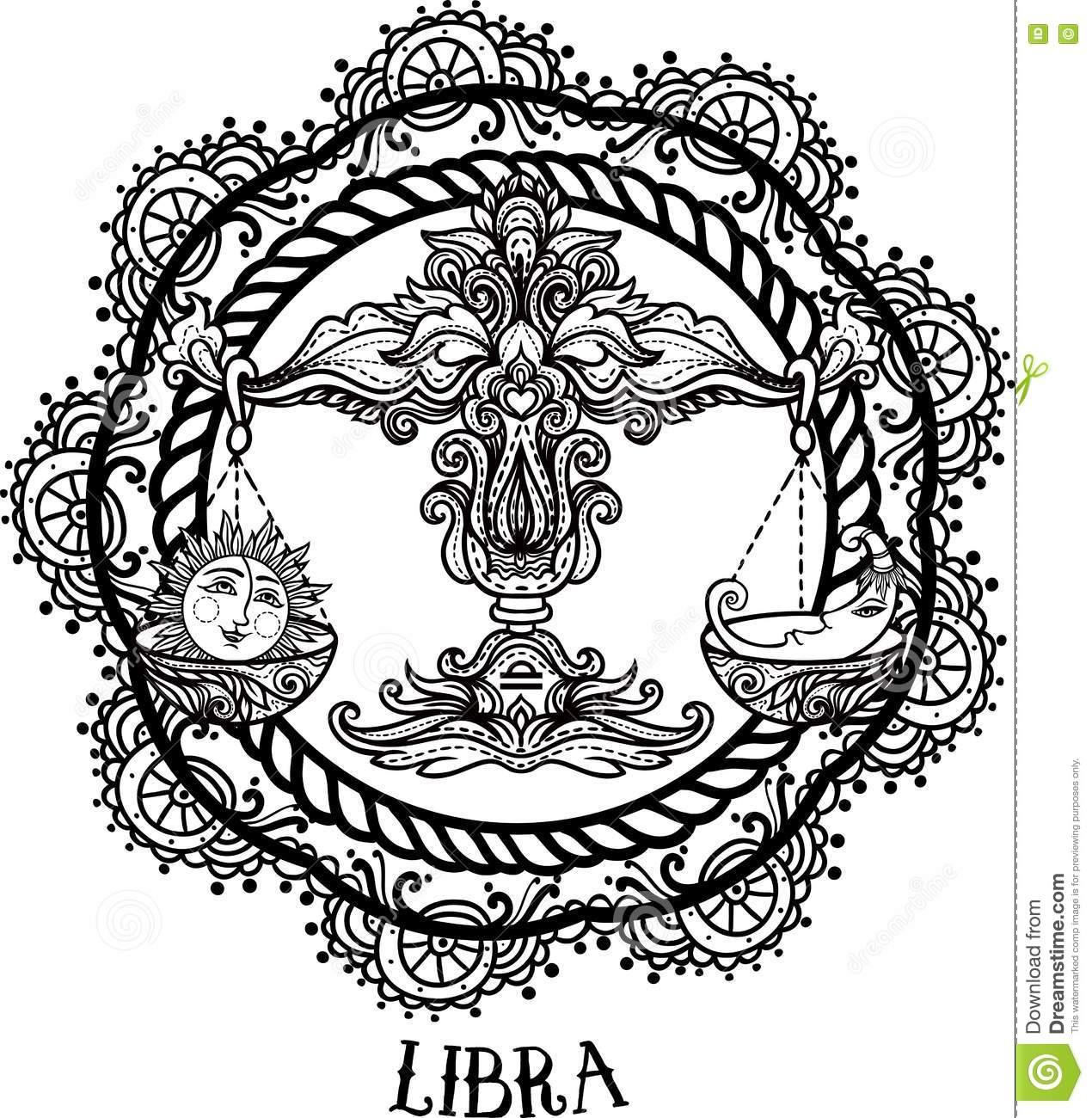 Libra coloring #11, Download drawings