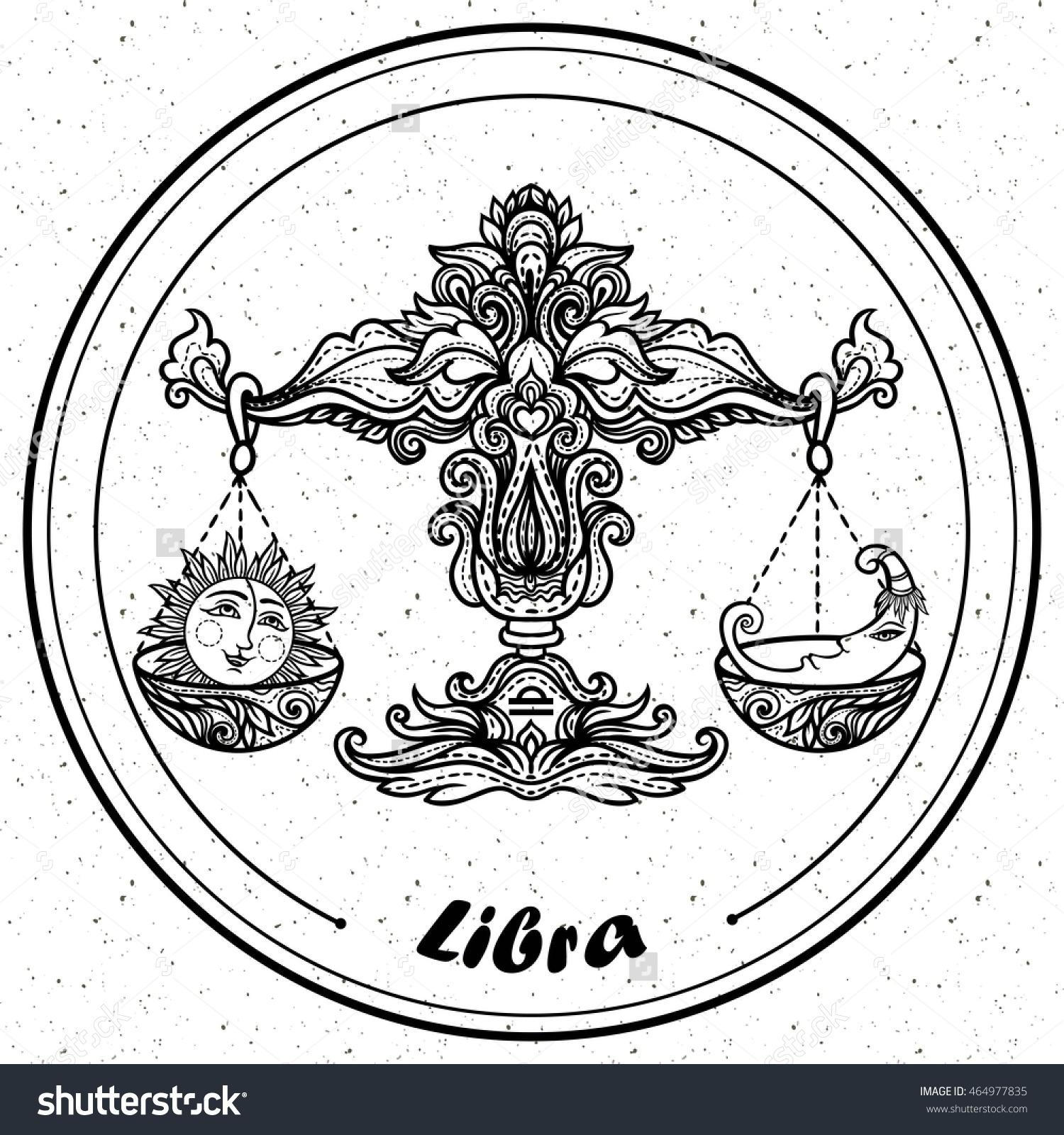 Libra coloring #9, Download drawings