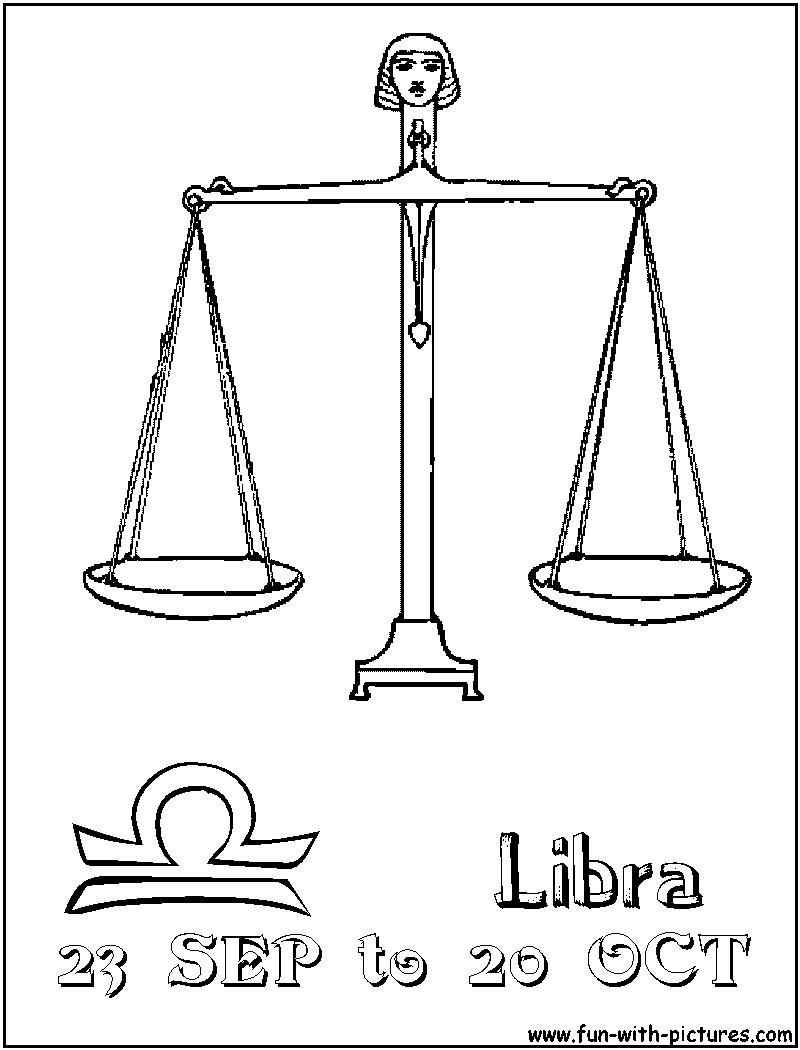 Libra coloring #6, Download drawings