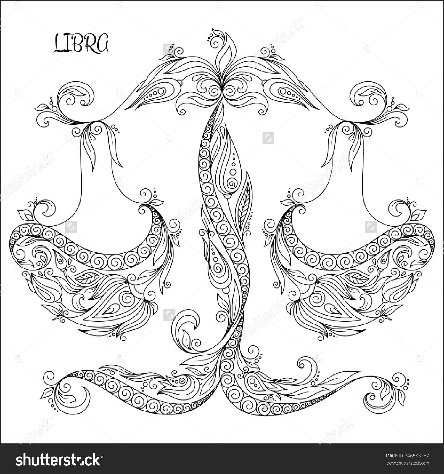 Libra coloring #15, Download drawings