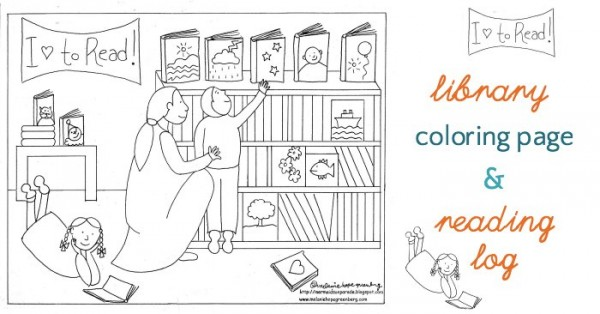 Library coloring #12, Download drawings