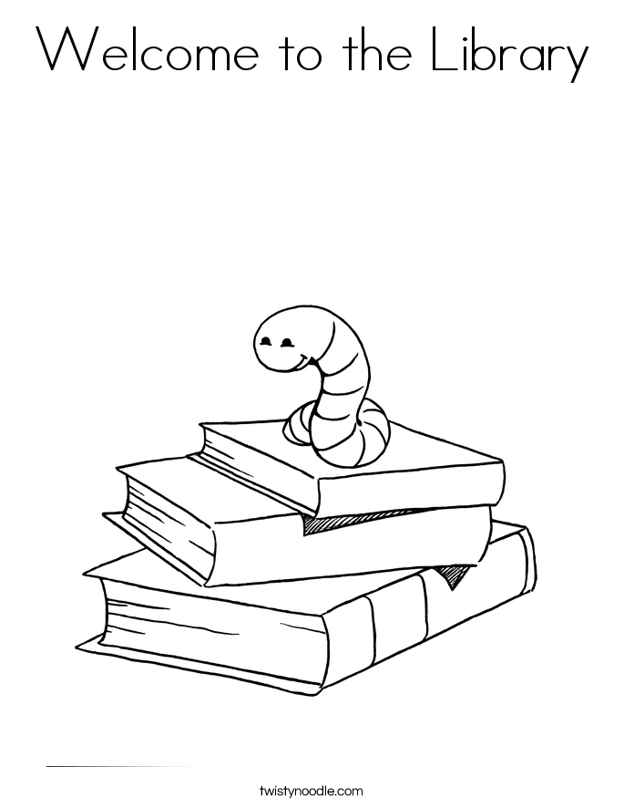 Library coloring #16, Download drawings