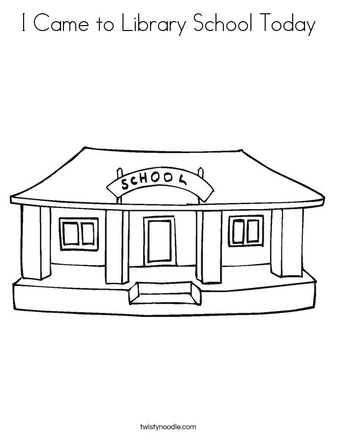 Library coloring #9, Download drawings
