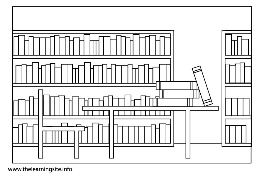 Library coloring #8, Download drawings