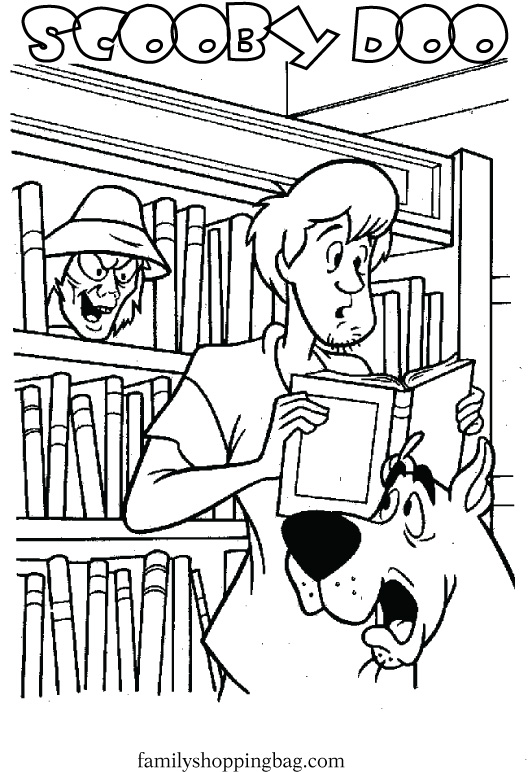 Library coloring #1, Download drawings