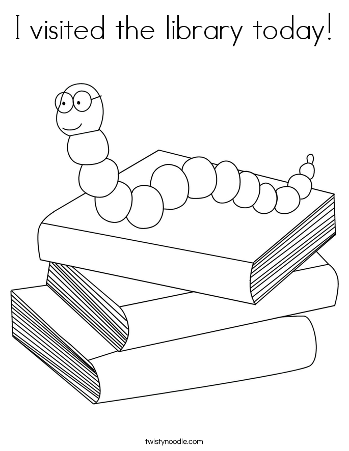 Library coloring #20, Download drawings