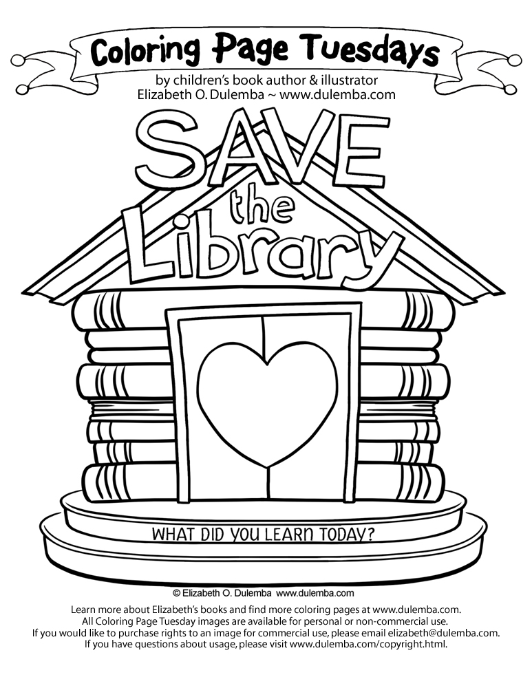Library coloring #6, Download drawings