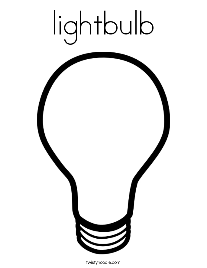 Light Bulb coloring #19, Download drawings
