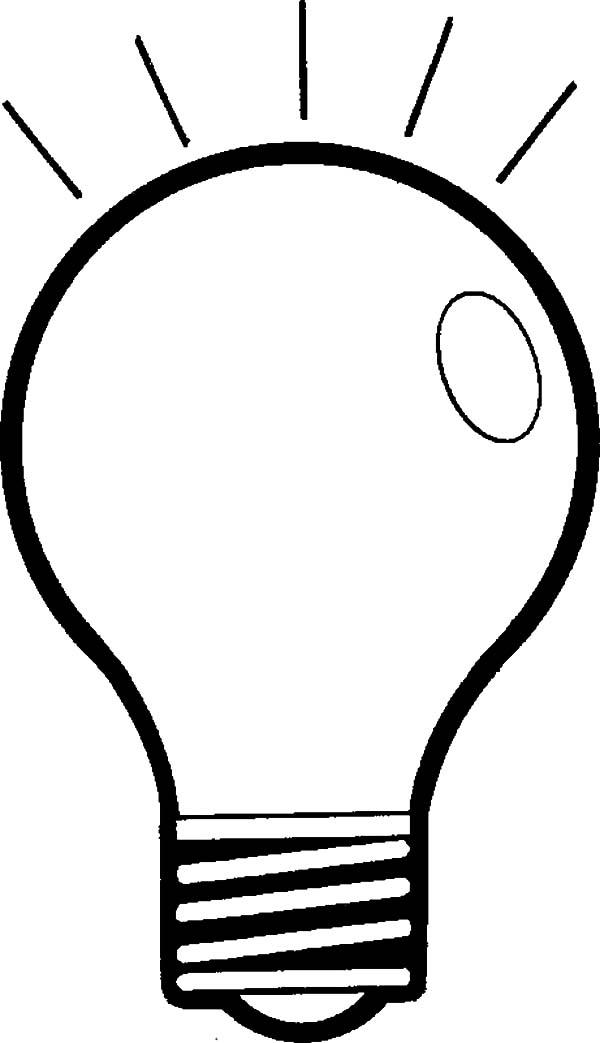 Light Bulb coloring #12, Download drawings