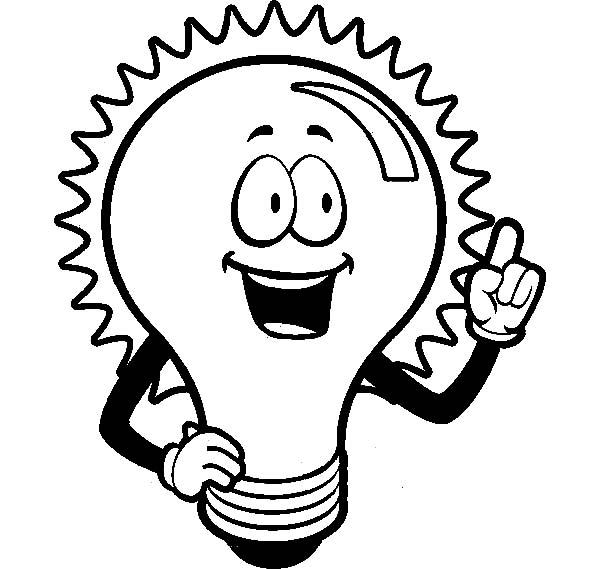 Light Bulb coloring #10, Download drawings