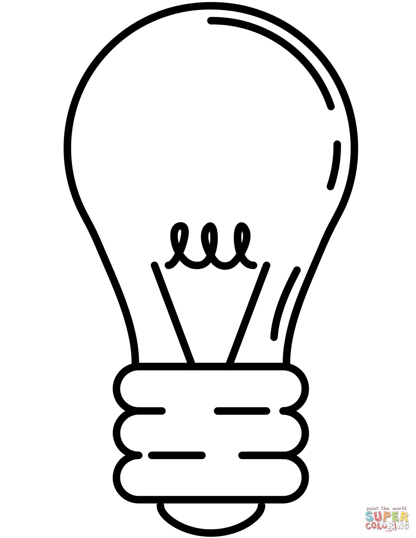 Light Bulb coloring #5, Download drawings