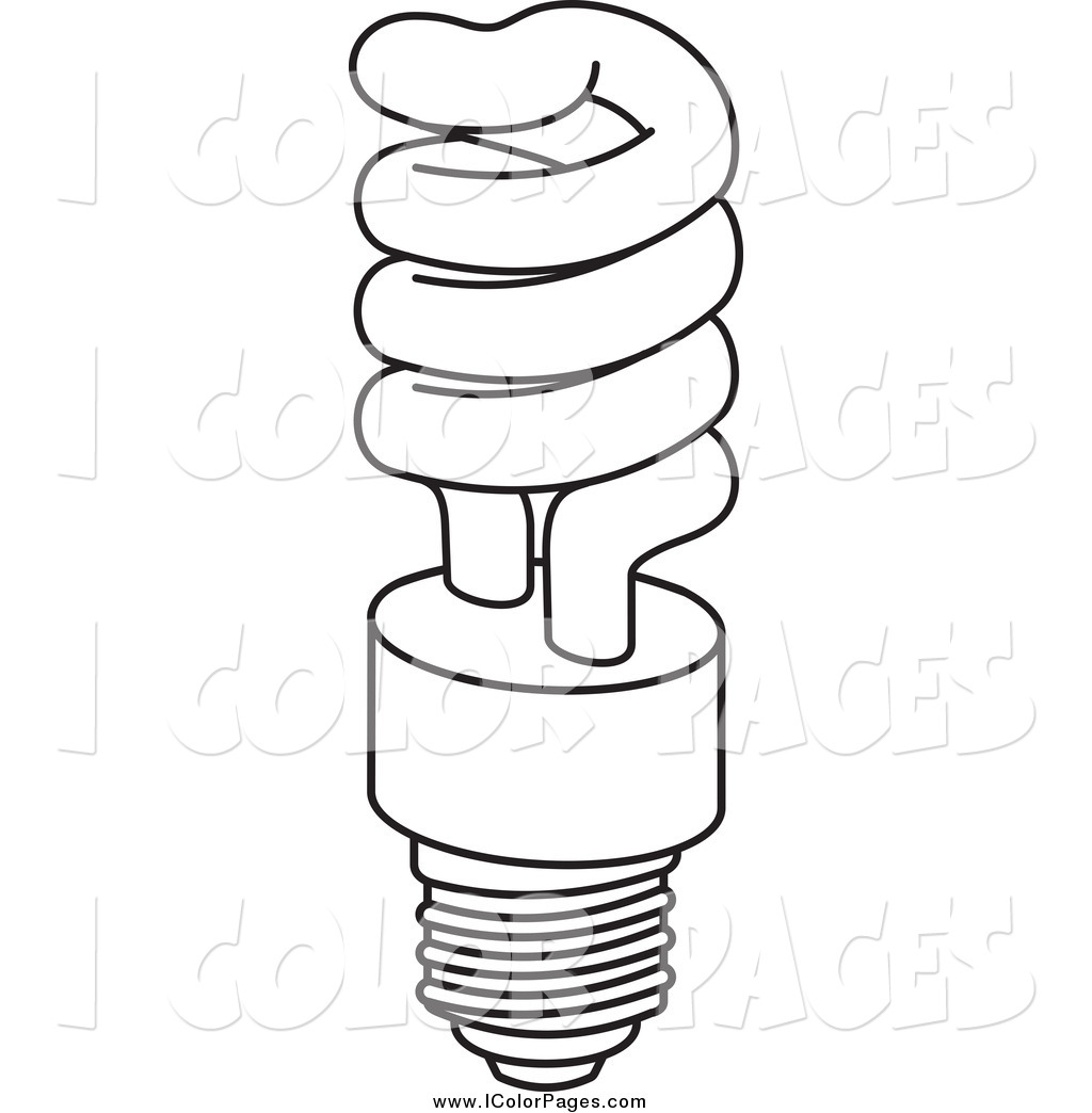 Light Bulb coloring #1, Download drawings