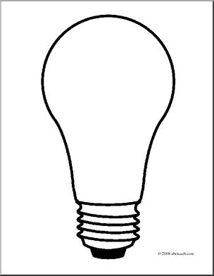 Light Bulb coloring #6, Download drawings