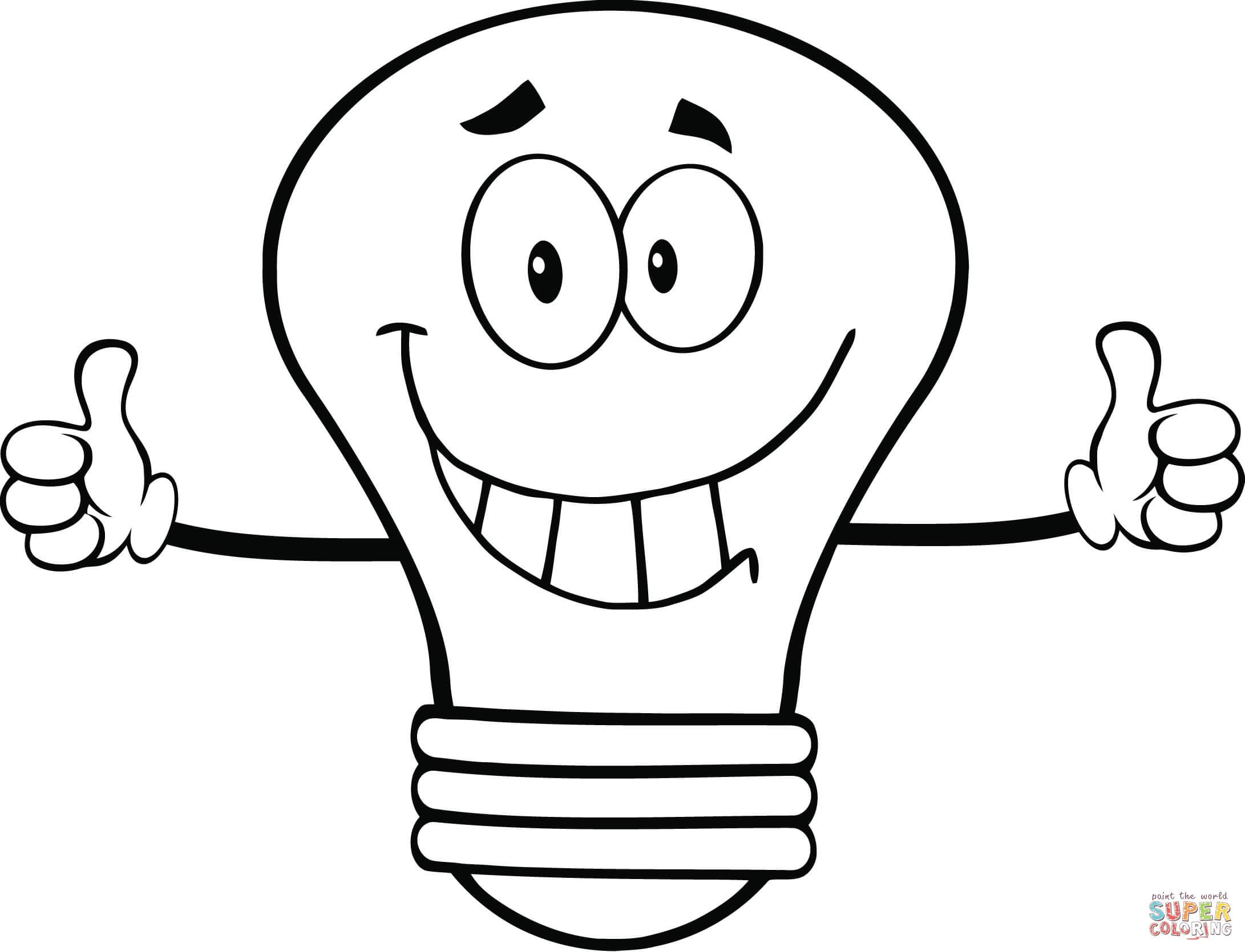 Light Bulb coloring #2, Download drawings