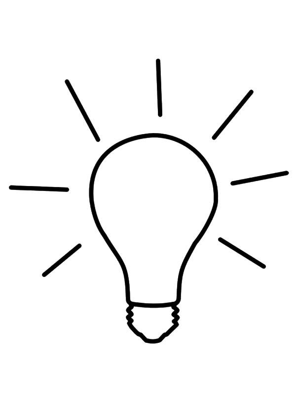 Light Bulb coloring #4, Download drawings