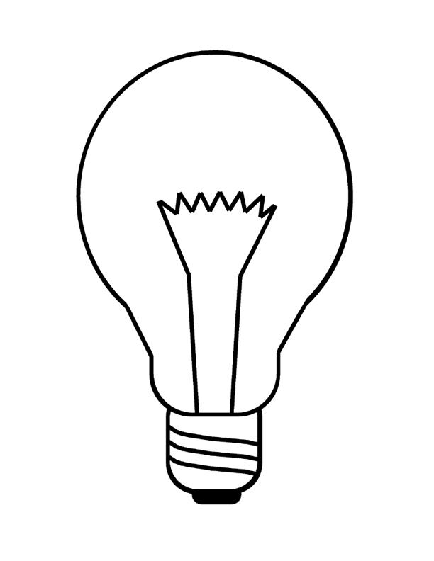 Light Bulb coloring #17, Download drawings