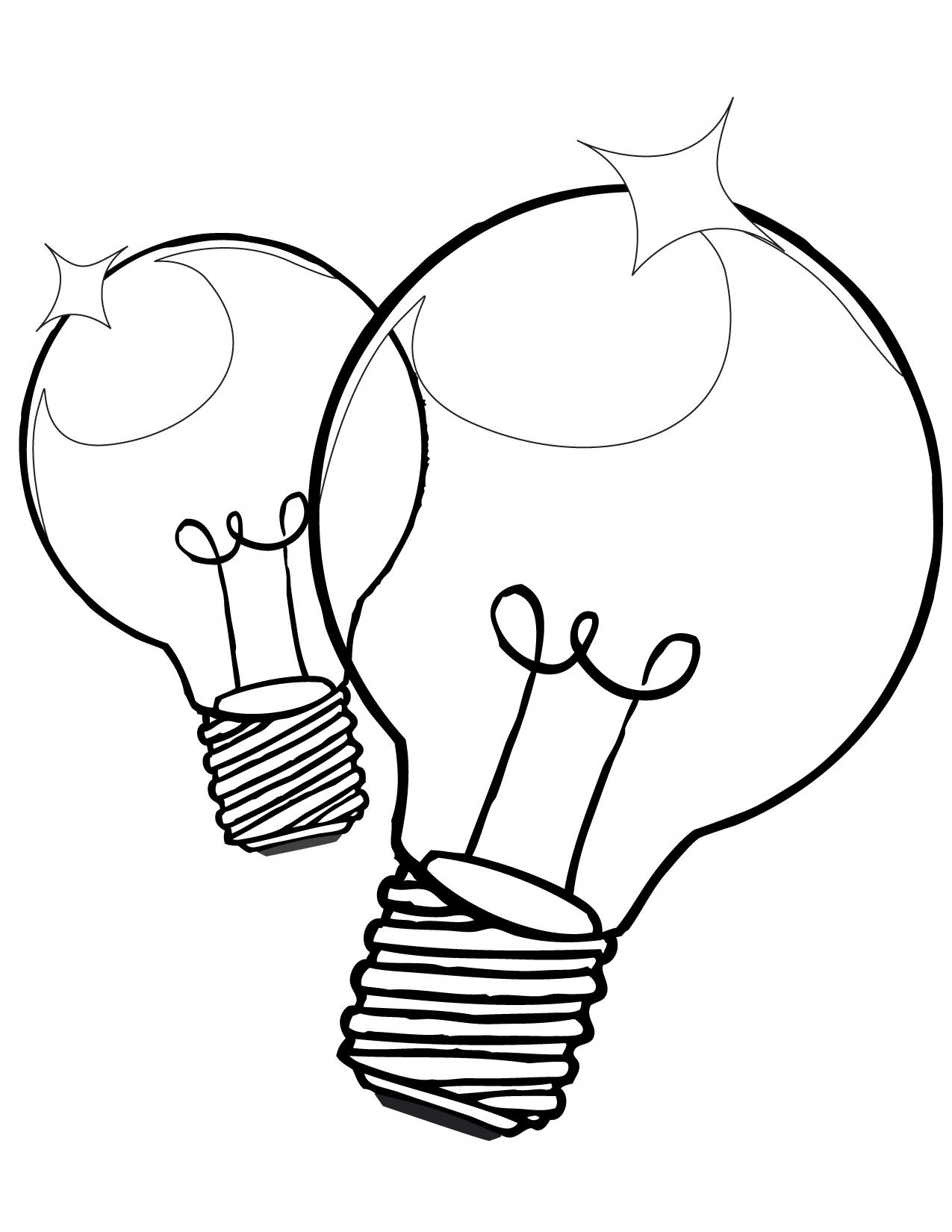 Light Bulb coloring #9, Download drawings