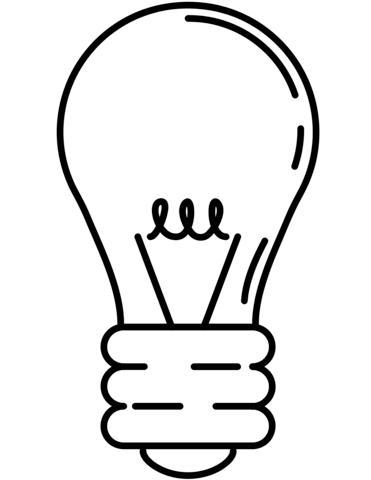 Light Bulb coloring #13, Download drawings