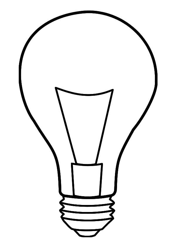 Light Bulb coloring #16, Download drawings