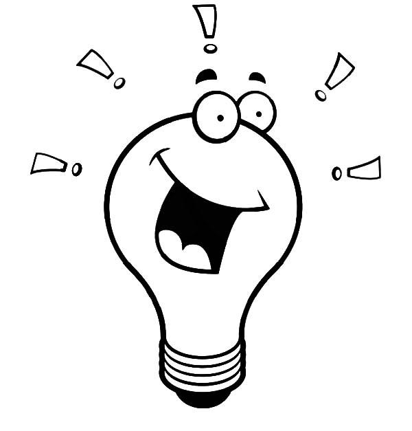Light Bulb coloring #14, Download drawings