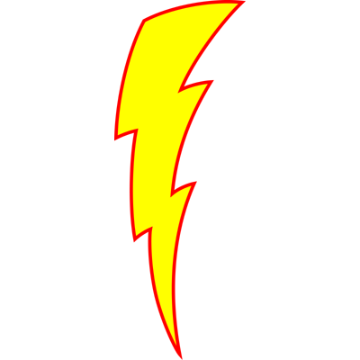 Lightning clipart #1, Download drawings