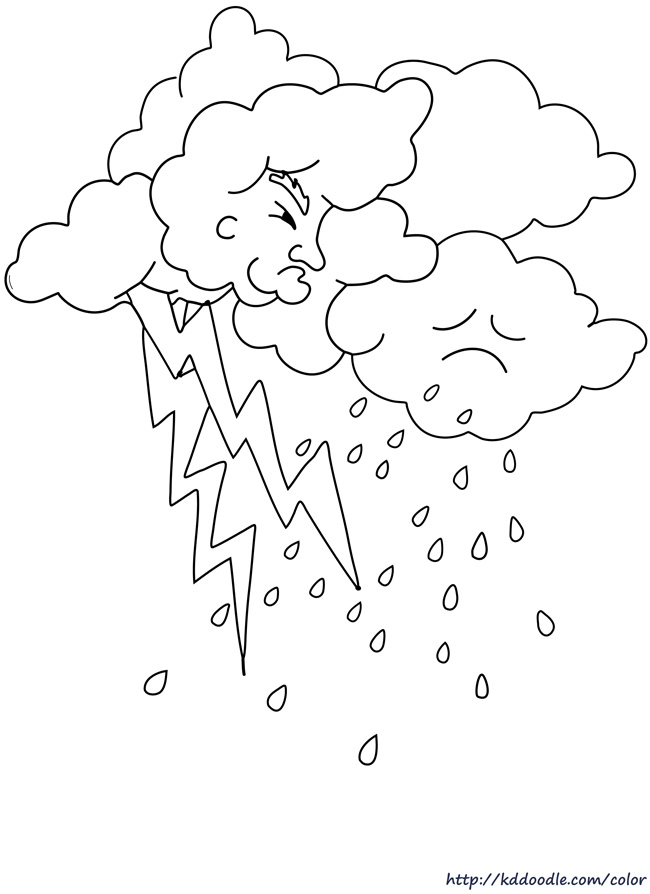 Lightning coloring #2, Download drawings