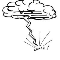 Lightning coloring #12, Download drawings