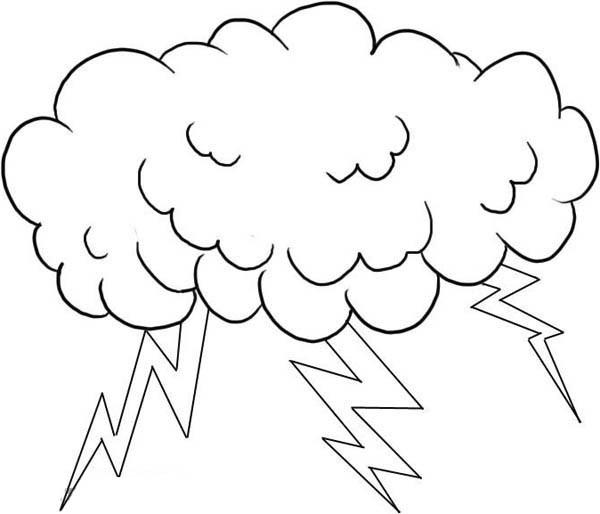 Lightning coloring #11, Download drawings