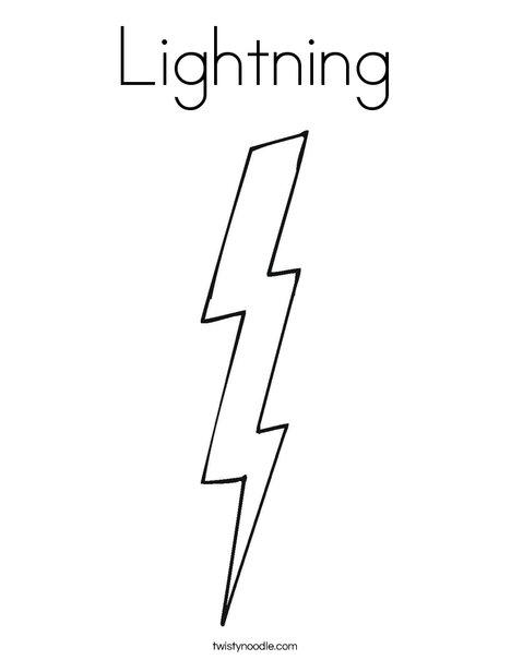 Lightning coloring #19, Download drawings