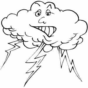 Lightning coloring #9, Download drawings
