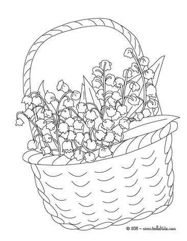 Lily Of The Valley coloring #2, Download drawings