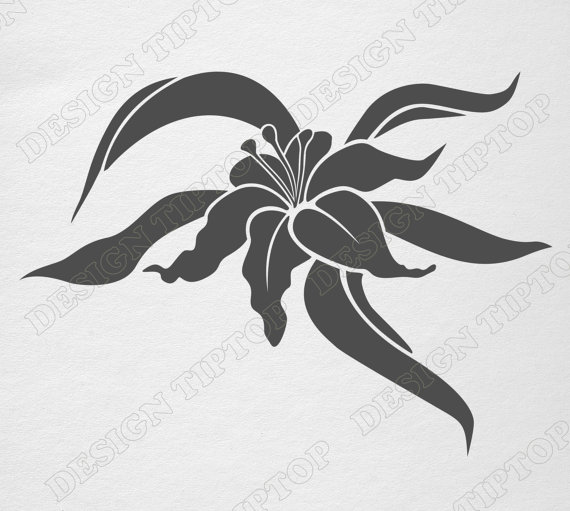 White Rain Lily svg #18, Download drawings